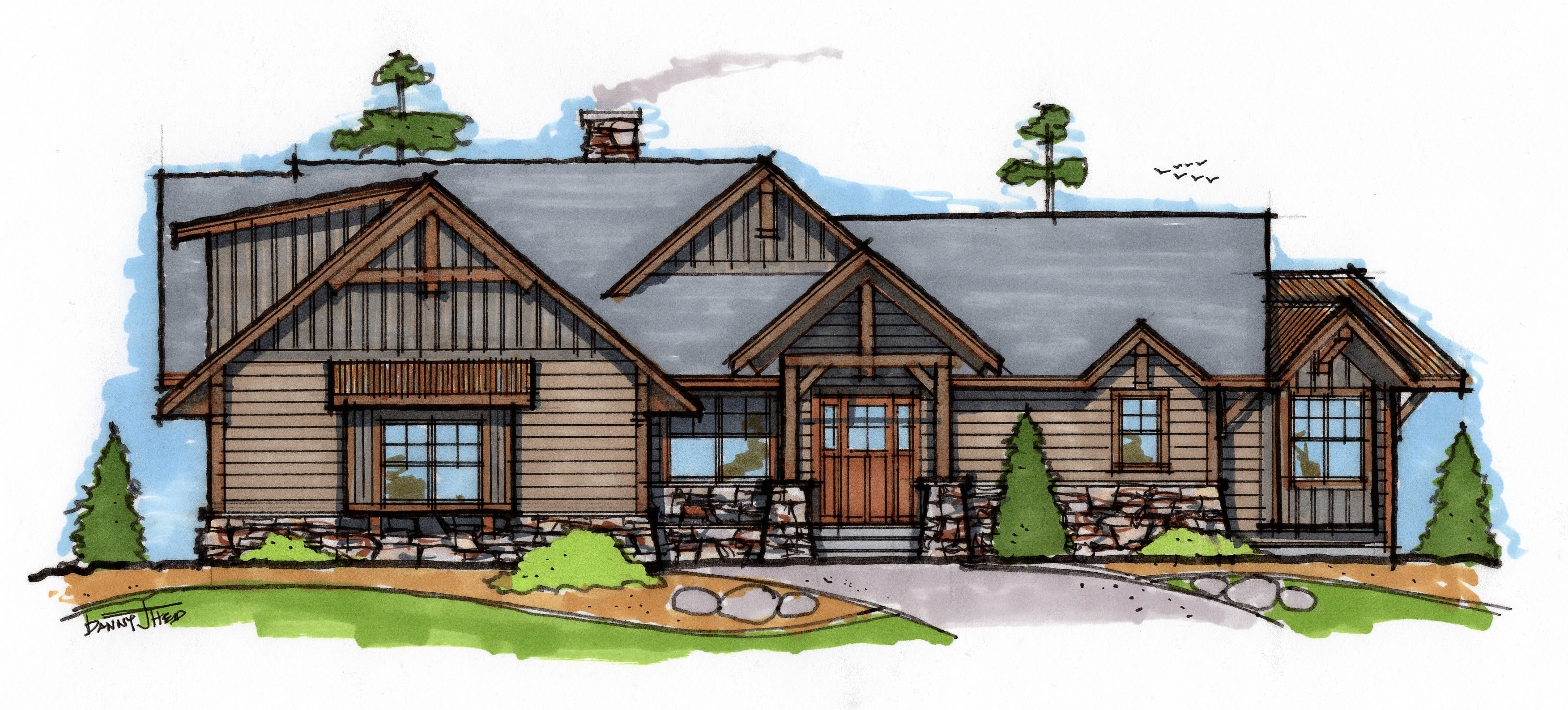Minnesota custom cabin lake home design lake home for Lake home plans and designs